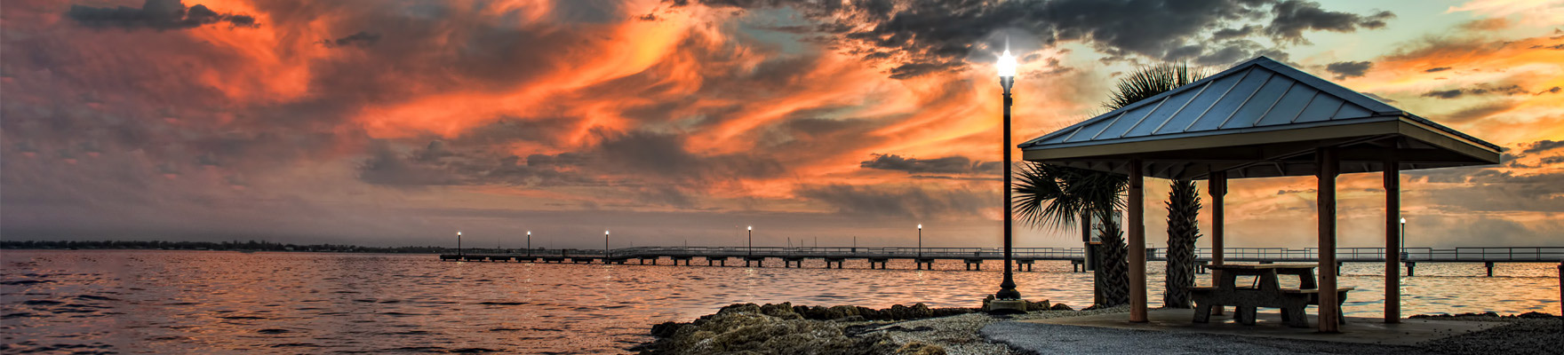 Punta Gorda Florida, Sunset over the Peace River