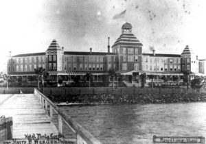 old photo of historic Hotel Punta Gorda