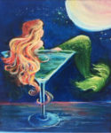 02-14-18 at the Visual Arts Center - Paint a New Year's Mermaid with Marki Raposa