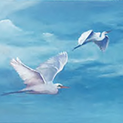 02-28-18 at the Visual Arts Center - Paint a egrets taking flight with Marki Raposa