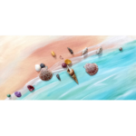 03-14-18 at the Visual Arts Center - Paint a colorful shell-studded beach with Kathleen Kelly