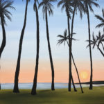 11-08-17 at the Visual Arts Center - paint swaying palm trees with Kathleen Kelly