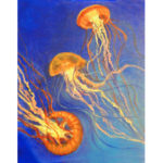 11-22-17 at the Visual Arts Center - Paint a jellyfish seascape with Marki Raposa